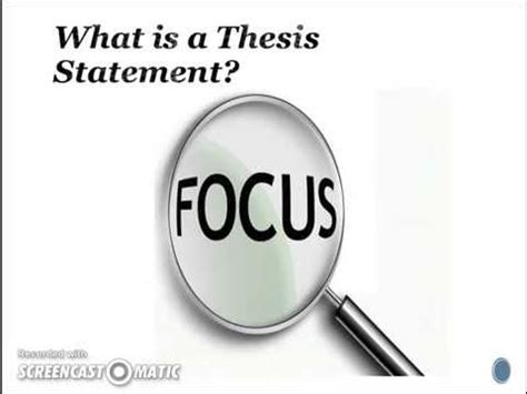 Writing an Effective Thesis Statement